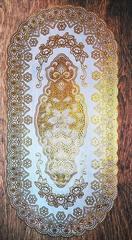 Салфетка декоративная 60 х 100 см овал золото № 1