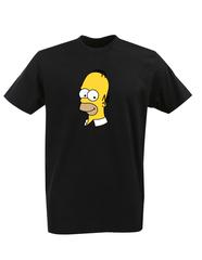 Футболка с принтом мультфильма Симпсоны (The Simpsons) черная 011