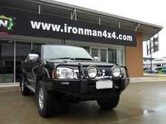 Бампер силовой Black Commercial для Nissan Navara D22