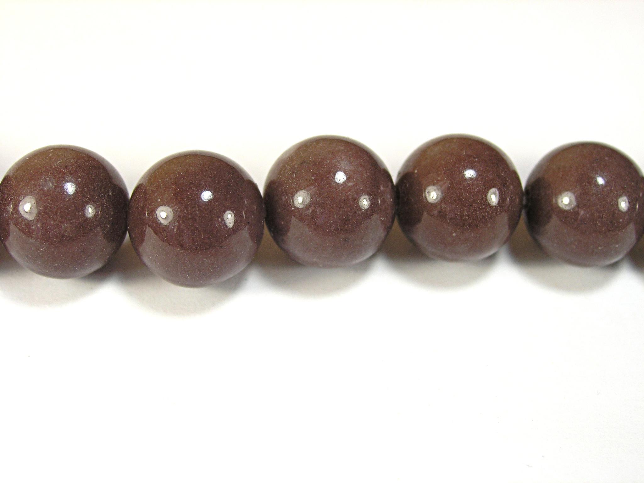 Бусина из авантюрина пурпурного, шар гладкий 12мм
