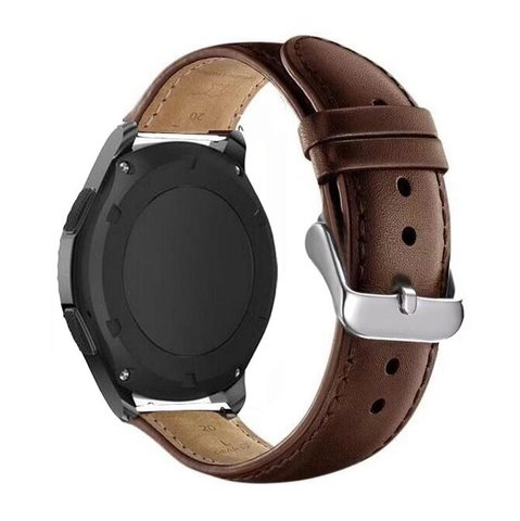 Кожаный ремешок 22мм Fohuas Leather Band для Samsung Gear S3/Galaxy Watch 46 (коричневый)