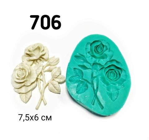 Молд Розы 7,5х6см, Арт.PO-0706, силикон