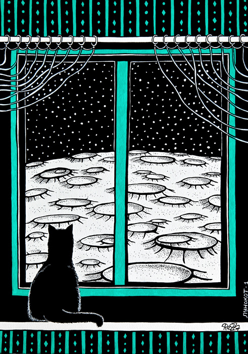 The Quiet Evening - 1 (Moon Cat)