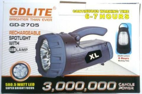 Фонарь аккум. GDLITE GD-2705XL