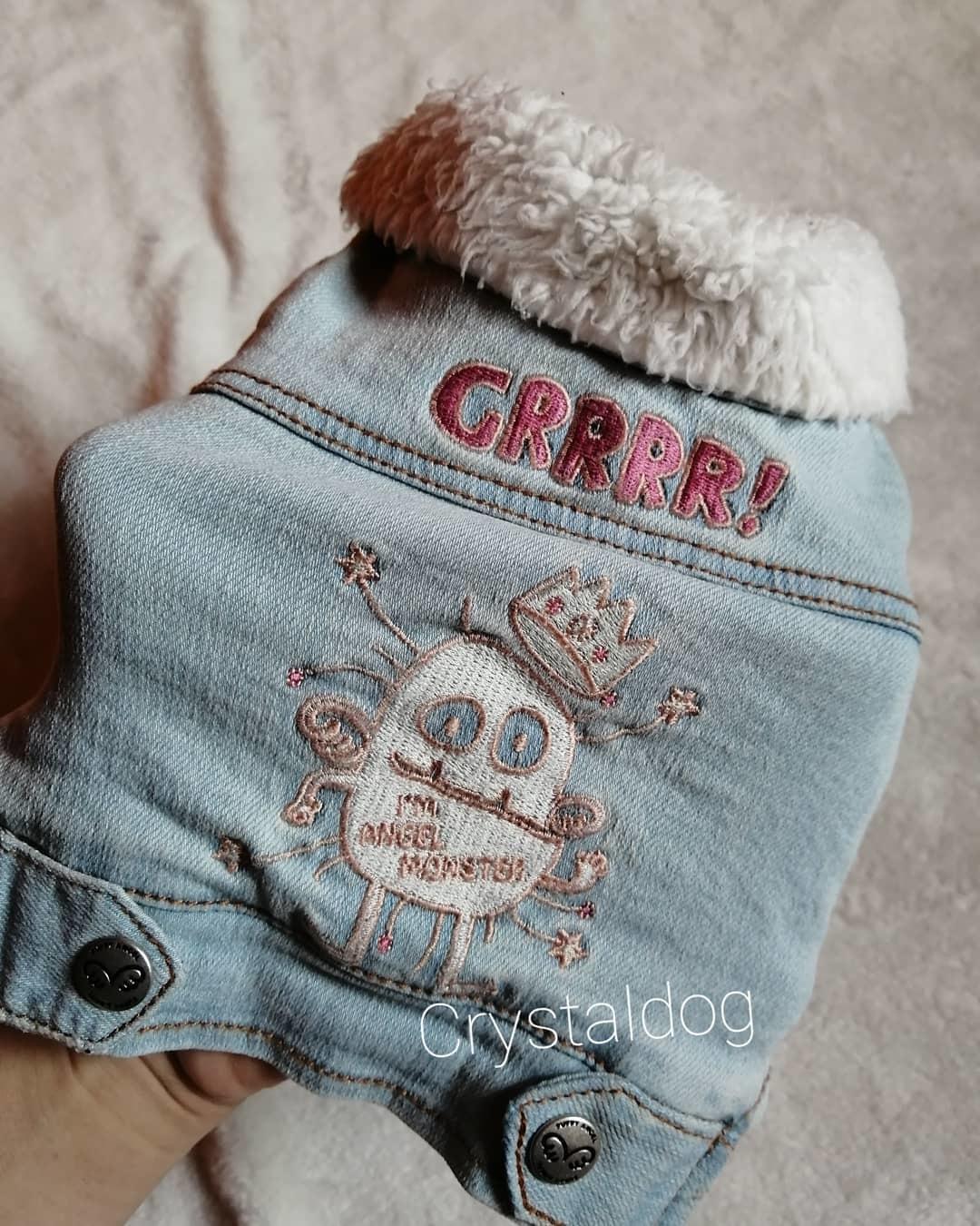 525 PA - Джинсовая куртка для собаки на меху