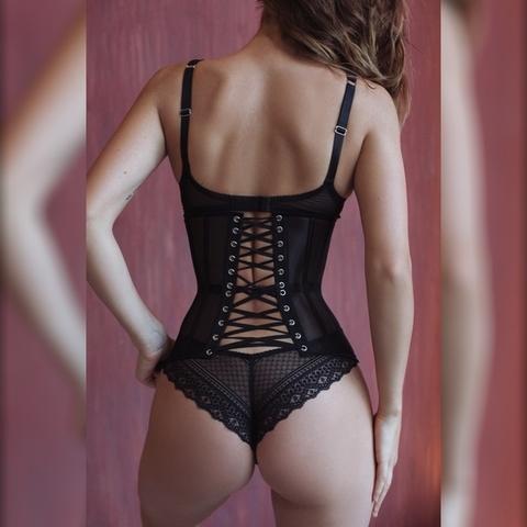 Корсет Simple прозрачный черный 65 см