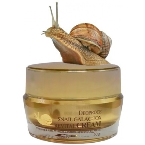 Крем для лица антивозрастной Deoproce Snail Galac-tox Revital Cream,50гр