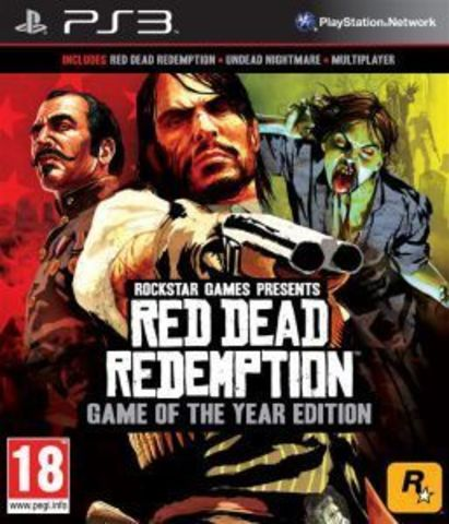 Red Dead Redemption - Game of the Year Edition (PS3, английская версия)