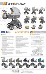 Модульная коляска Riko VARIO 2 в 1