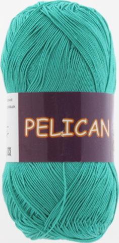Пряжа Pelican (Vita cotton) 3979 Зеленая бирюза