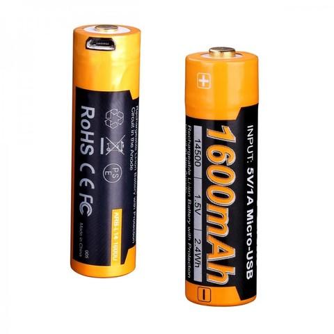 Аккумулятор АА/14500 LI-ION Fenix 1.5V, 1600mAh + micro USB port