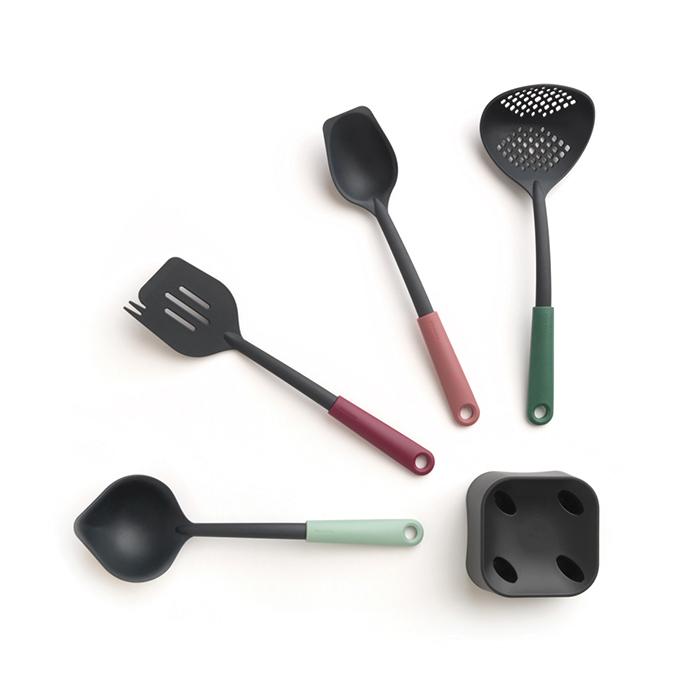 Набор кухонных принадлежностей с подставкой, 5 пр., арт. 123184 - фото 1