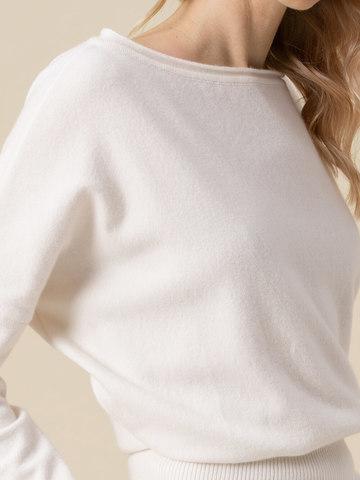 Женский джемпер молочного цвета из 100% кашемира - фото 3