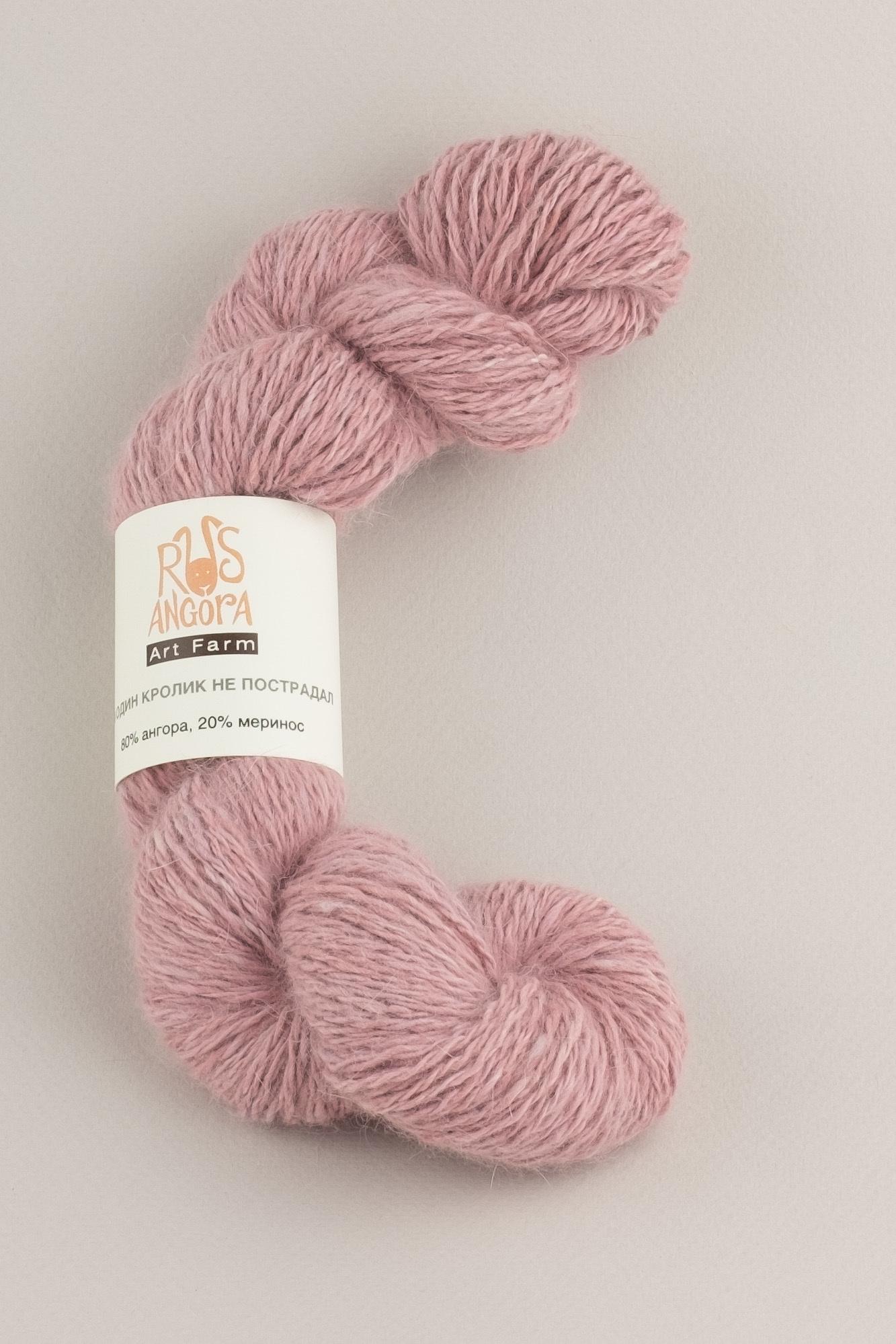 Пряжа из 100% ангоры ручной работы розовый
