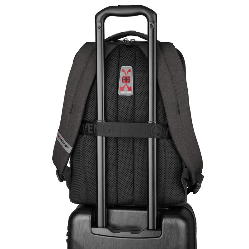 Рюкзак WENGER MX Professional с отделением для ноутбука, цвет тёмно-серый, 45х33х21 см., 21 л. (611641) | Wenger-Victorinox.Ru