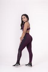 Женские лосины Nebbia Flash-Mesh leggings 663 burgundy