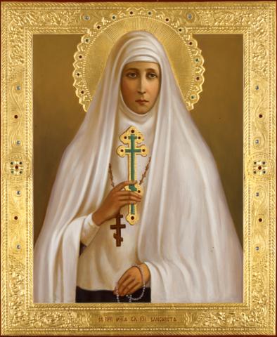 Икона святая Елисавета Федоровна Романова на дереве на левкасе мастерская Иконный Дом