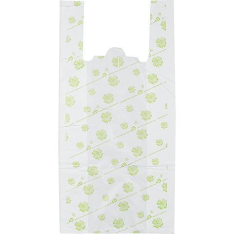 Пакет-майка Знак Качества Био ПНД с рисунком 23 мкм (32+14x65 см, 50 штук в упаковке)
