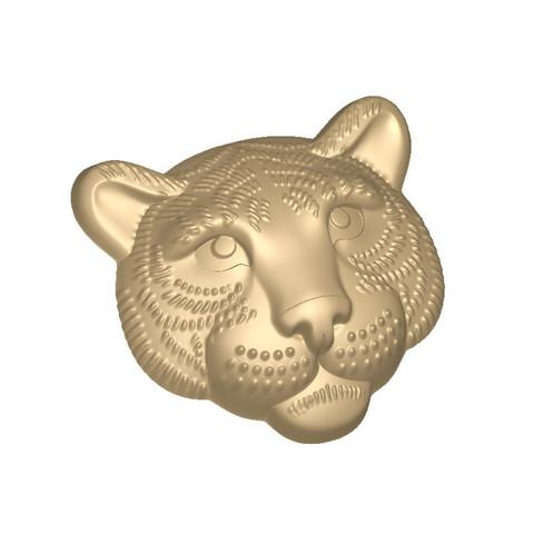 Голова Тигра форма пластиковая