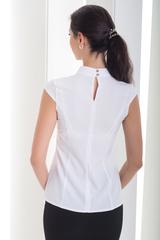 Хлоя. Стильная блуза с бантом. Белый