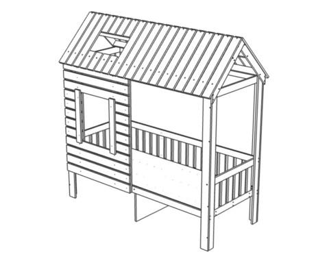 Кровать АМИ-2 с ящиками правая