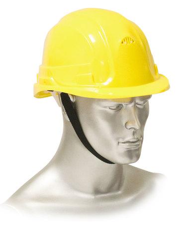 Каска защитная рабочая желтая