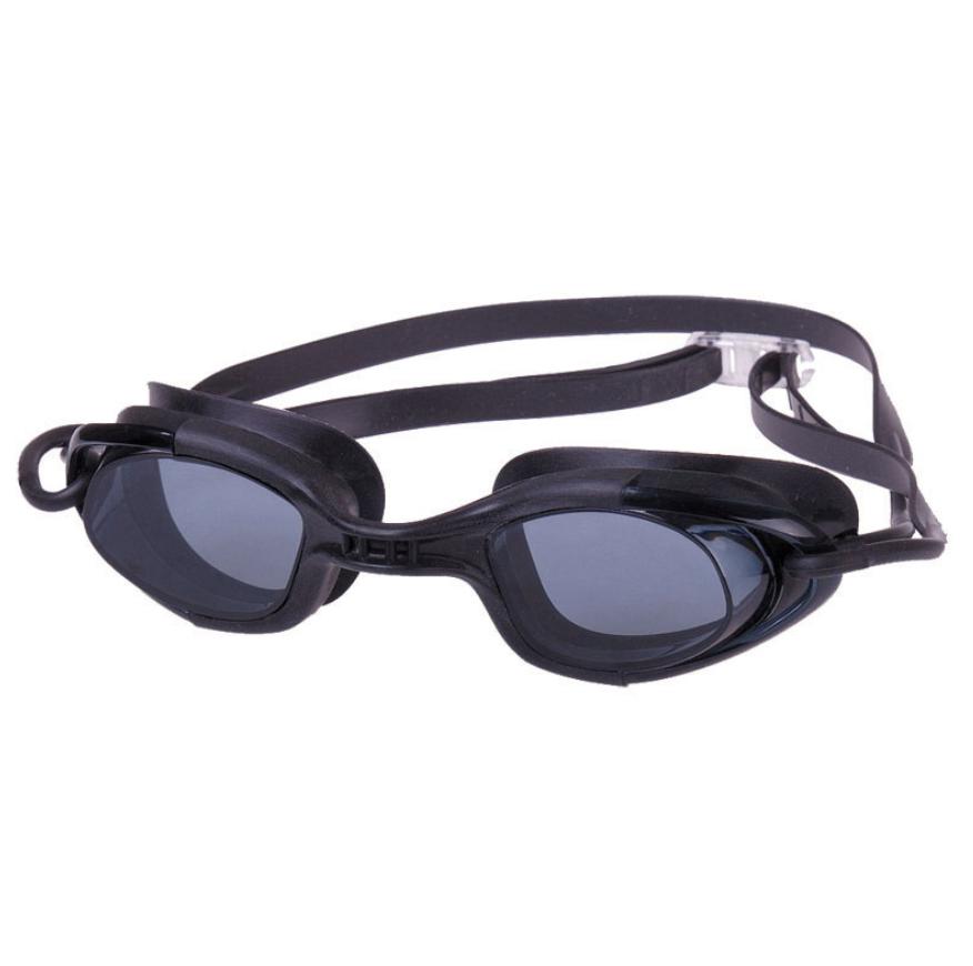 Swimming Goggle, w/ Antifog lens, Silicone eyecups & strap, black