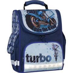 Рюкзак школьный каркасный с фонариками Bagland Успех 12 л. синий 551 (00551703)