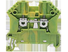 SSL 2,5/2A винтовая заземляющая клемма стандартного жёлто-зелёного цвета  Артикул: 17103.2