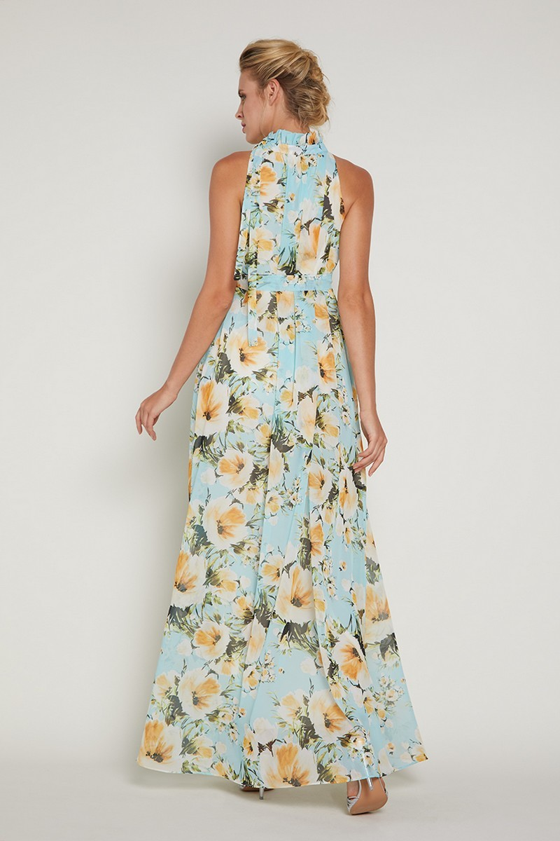 Платье для беременных 09362 принт желтые цветы