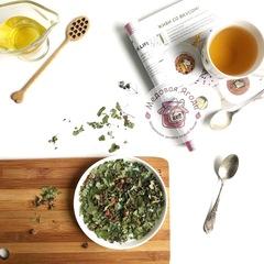 Травяной чай. Лесная клубника, душица, смородиновый лист