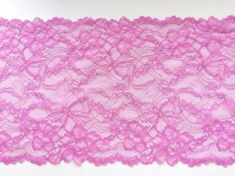 Эластичное кружево, ОПТ, 22 см, розово-лиловый (Арт.ЕК-1054), м