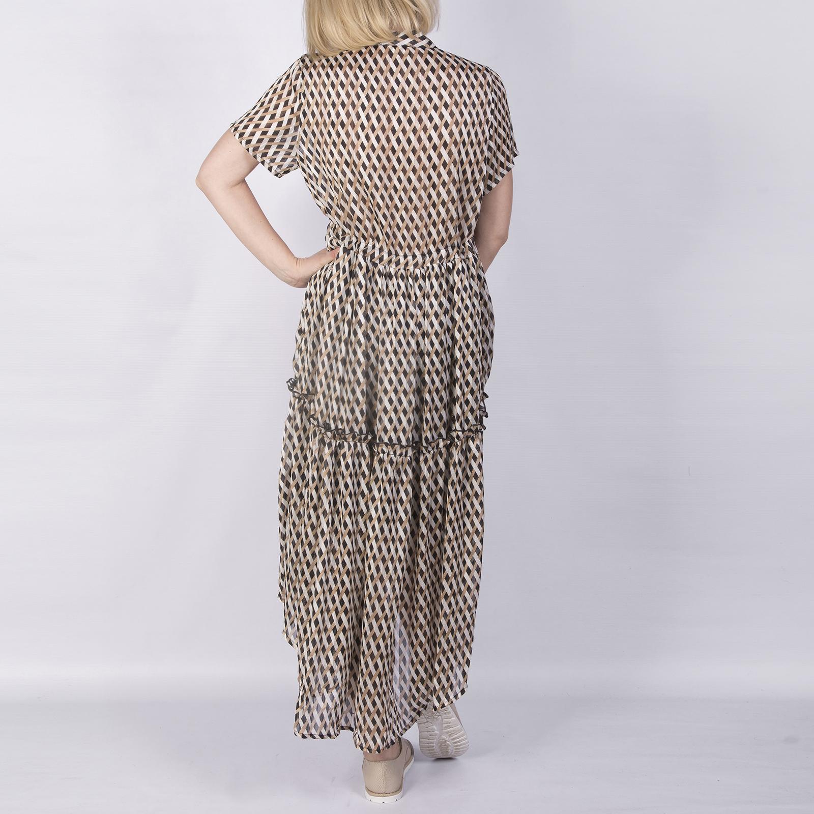 Платье, Ballerina, Z2702 (коричневый орнамент)