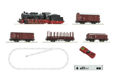 Цифровой набор z21: Паровоз class 57 + 4 грузовых вагона, DB, Ep.III - IV