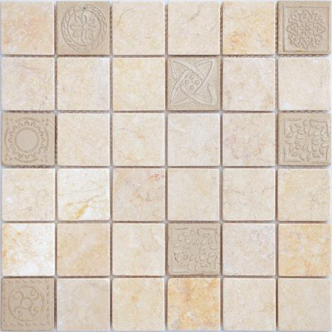 Мозаика LeeDo: Art Botticino матовая 30х30х0,8 см (чип 48х48х8 мм)