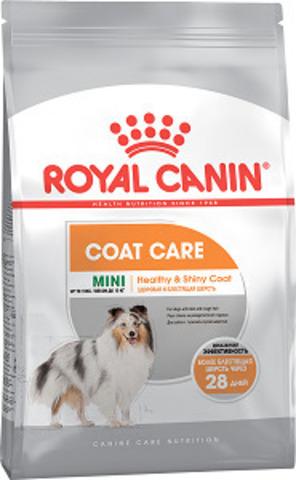 Royal Canin Mini Coat Care сухой корм для собак мелких пород с тусклой и сухой шерстью
