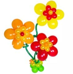 """""""Цветы на стебле"""" композиция из шаров"""