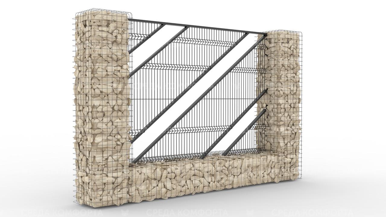 Забор 3Д ZBR0076