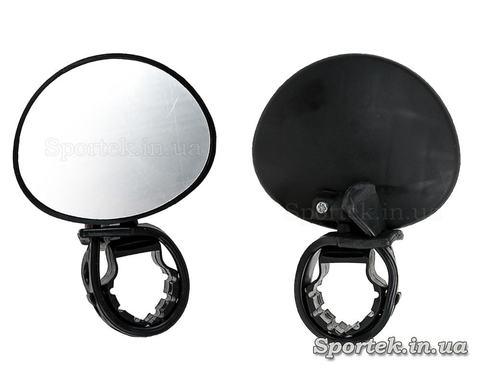 Дзеркало заднього виду для велосипеда овальне (70х56 мм) на ліву чи праву сторону керма