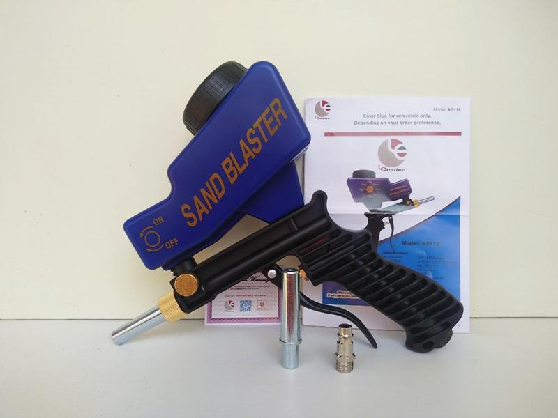 Пескоструйный пистолет с верхним бачком AS118, комплектация