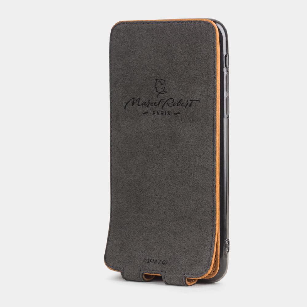 Чехол для iPhone 11 Pro Max из натуральной кожи теленка, цвета золота