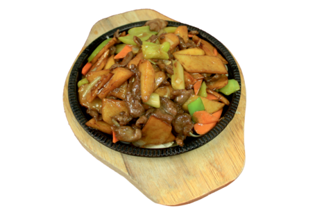 8--20Баранина с картофелем铁板羊肉土豆片655р400гр