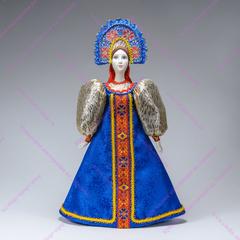 Сувенирная кукла в круглом прямом кокошнике