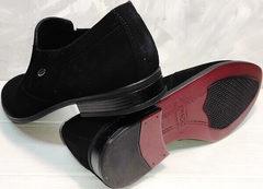 Модельные туфли мужские демисезонные Ikoc 3410-7 Black Suede.