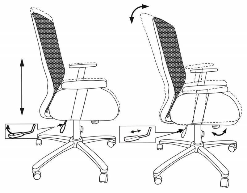 Кресло для персонала БЮРОКРАТ CH-899SL/TW-11