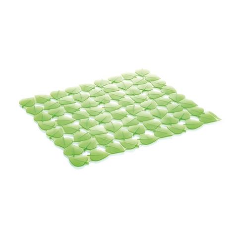 Коврик для раковины CLEAN KIT 32x28 см, листочки зеленый