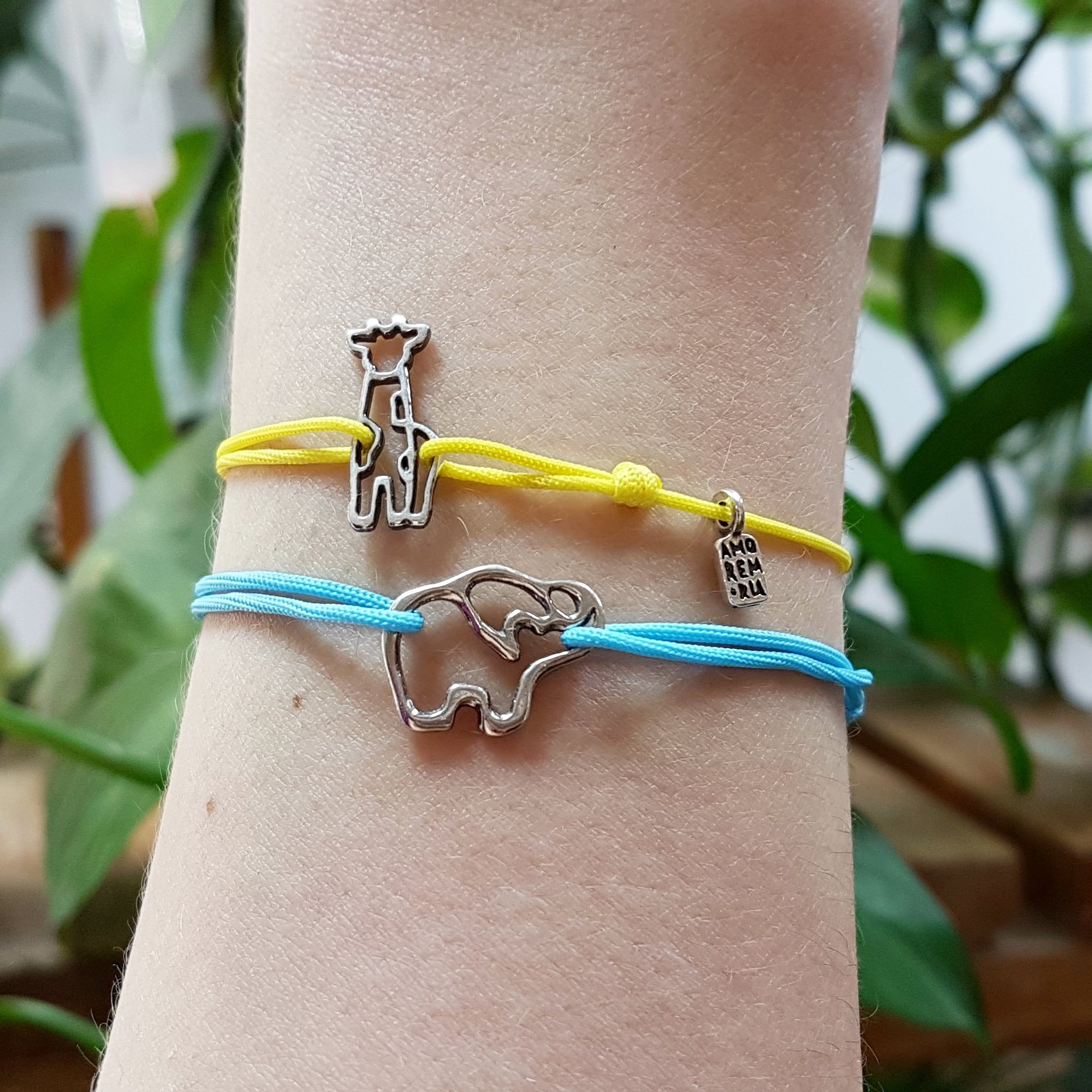 Elephant bracelet, sterling silver