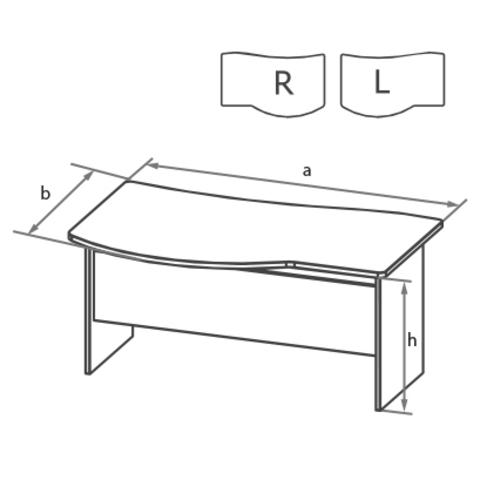 Стол угловой с брифинг-зоной с высокой передней панелью БОСТОН