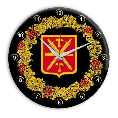 Часы в стиле Хохлома сувенирные Тула 03