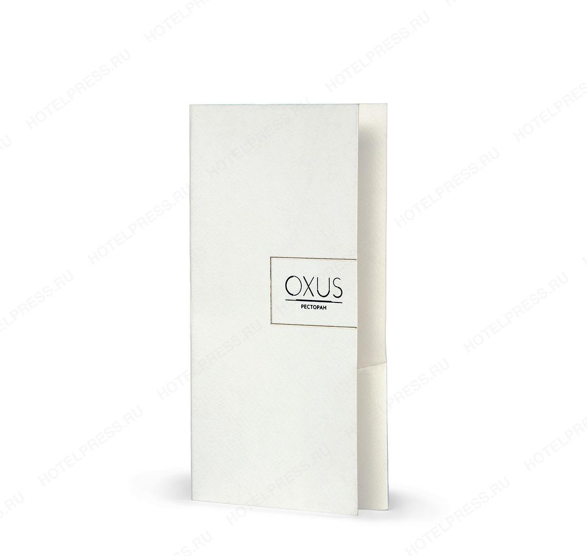 Папка-счет из дизайнерской бумаги с тиснением логотипа. ПС_13